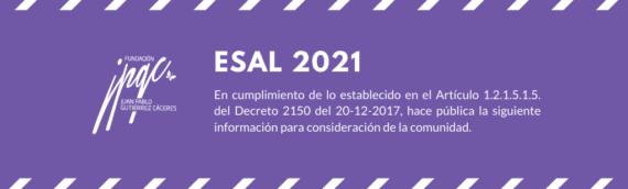 Régimen Tributario Especial 2021